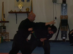 Rob demonstrating technique at Hubbard seminar